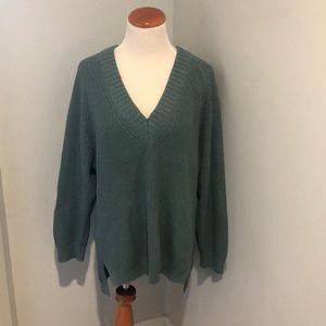 Express Oversized V-neck Sweater